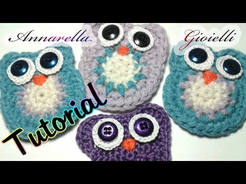 Tutorial Gufo all'Uncinetto | Crochet owl tutorial