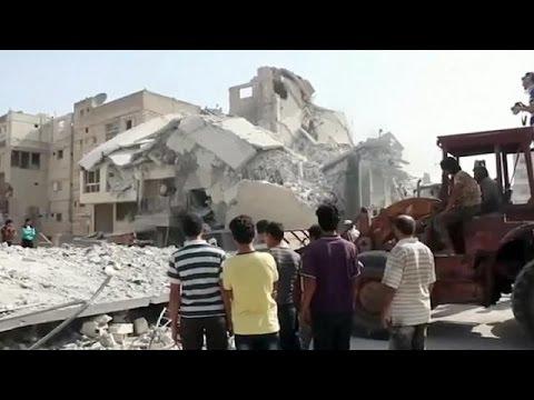 Συρία: Στρατιωτικό αεροσκάφος συνετρίβη πάνω σε πολυσύχναστη αγορά