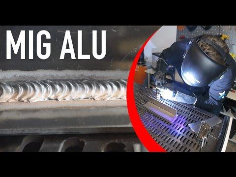 MIG Schweißen Aluminium mit WIG Optik und Schuppung Tipps und Tricks