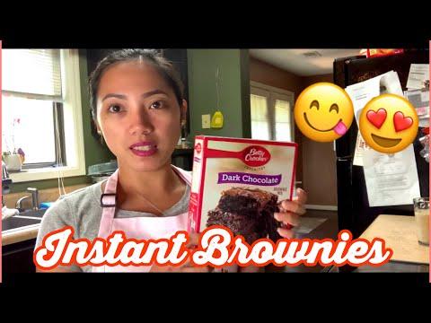 How to make brownies  Instant brownies