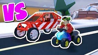 NEW LEVEL 5 ATV VS LEVEL 5 DUNE BUGGY RACE in JAILBREAK!! (Roblox Jailbreak)