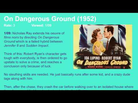 Movie Review: On Dangerous Ground (1951) [HD]
