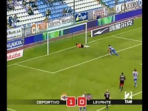 Deportivo 1 Levante 0 gol de Riki