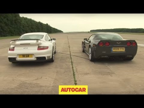 gt2 - Which is faster in a one-mile drag race? Porsche 911 GT2 or Corvette ZR1? Visit http://www.autocar.co.uk/porsche/ for the latest Porsche news and reviews, or...