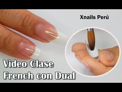 Videos de uñas - VIDEO CLASE Uñas Francesas con MOLDES DUAL / Xnails Peru