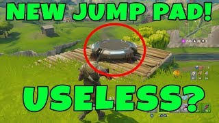 FORTNITE UPDATE 1.9 NEW JUMP PAD FIRST LOOK (NEW LAUNCH PAD) - Fortnite Battle Royale