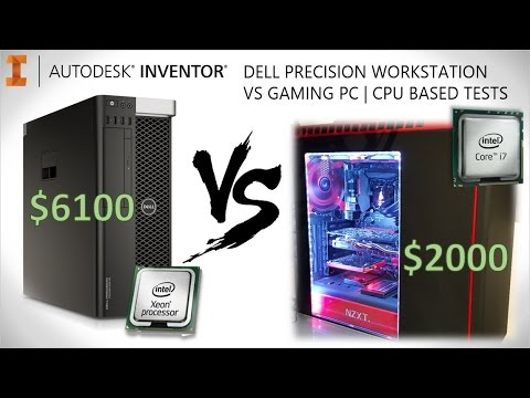 $6000 10C Dell Workstation -VS- $2000 4C Gaming PC | CAD Benchmark Test