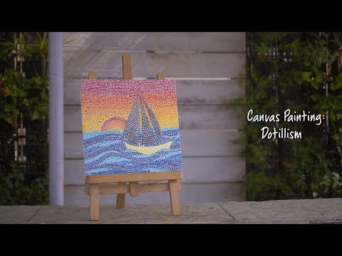 Canvas with flamingo