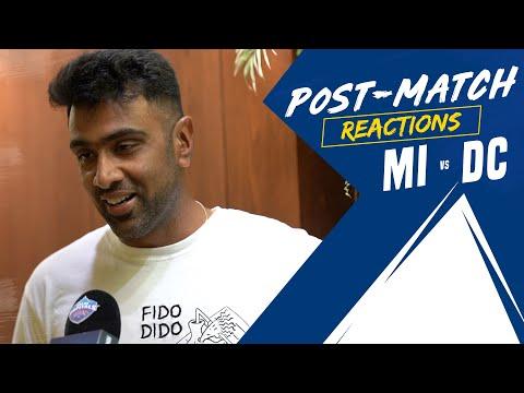 Ravichandran Ashwin Post Match Reactions   MI v DC   IPL 2021