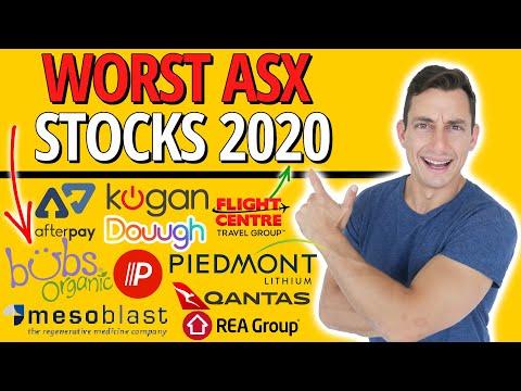 BEST & WORST ASX STOCKS NOVEMBER 2020 | Stock Market Crash | KGN APT WEB FLT Z1P PLL