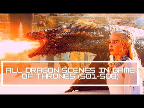 All Dragon  Scenes from Game of Thrones    Seasons 1-8   - HD 1080p