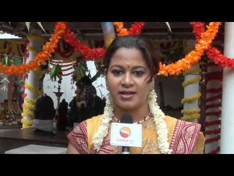 Actress Ashmitha speaks at Kaanum Kanavugal Movie Pooja