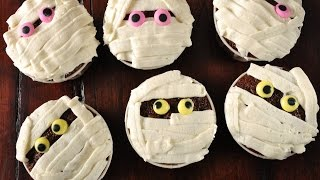 Mummy Cupcakes Recipe Demonstration - Joyofbaking.com - YouTube