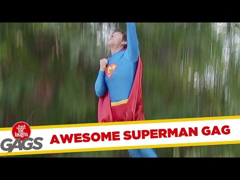 Flying Superman Prank!