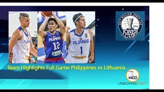 This clip is a full Gilas Team Highlights on Philippines game against Lithuania in the 39th William Jones Cup 2017. Gilas loss to ...