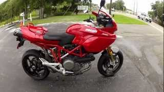 10. 2008 Ducati Multistrada 1100 Red at Euro Cycles of Tampa Bay