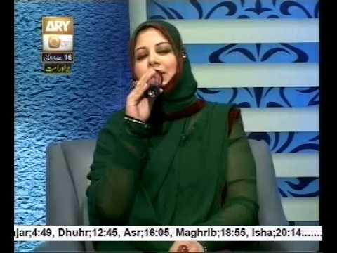 Mehwish Ashan live online in Sana e sarkar 17 april 2014 with Hooria fahim qadri live naat program qtv