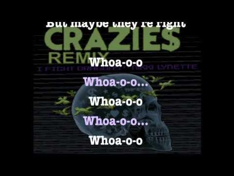 CRAZIES Remix Lyric Video - I Fight Dragons ft. Nikki Lynette