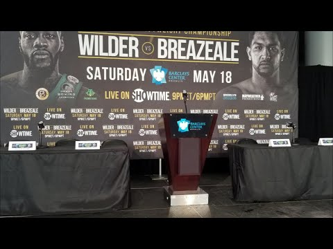 Deontay Wilder Vs Dominic Breazeale Live Press Conference Coverage !