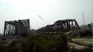 Garhmukteshwar India  city photos gallery : INDIAN RAILWAYS Ganga River X ing at speed restriction at Garhmukteshwar
