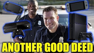 Police Donate Recovered Consoles To Kids At Hospital