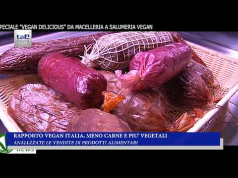 RAPPORTO VEGAN ITALIA, MENO CARNE E PIU' VEGETALI