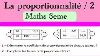 Maths 6ème - La proportionnalité 2 Exercice 4