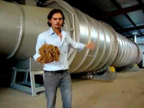 Fábrica de briquetes com bagaço de agave no México