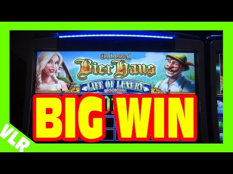 NEW COLOSSAL BIER HAUS – BIG WIN MAX BET PROGRESSIVE BONUS + Slot Machine LIVE PLAY