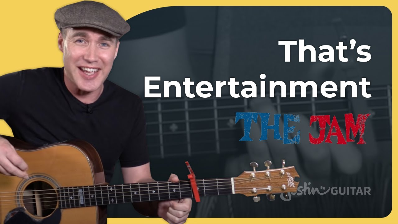 That's Entertainment – The Jam – Paul Weller Strumming Beginner Guitar Lesson Tutorial (BS-621)