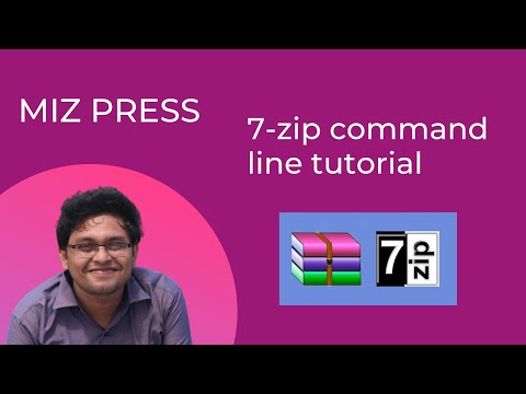 7zip command line tutorial - everything needed available on this tutorial