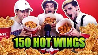 Dokážeme zjesť 150 KFC HOT WINGS ? w/ Evžen, Samo