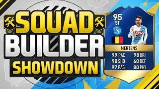 FIFA 17 SQUAD BUILDER SHOWDOWN!!! TEAM OF THE SEASON MERTENS!!! 95 Rated Dries Mertens Squad Duel