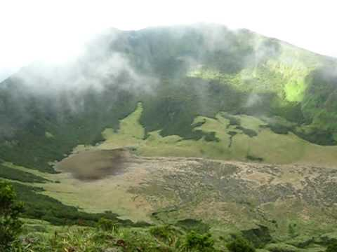 Old crater of Canlaon volcano