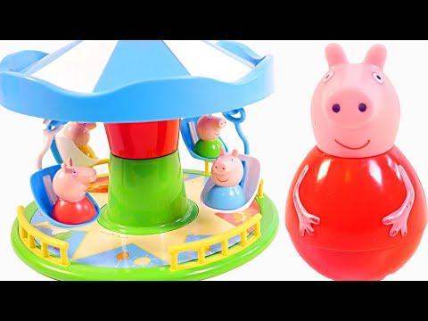Peppa Pig en español - Mejores Videos Para Niños - Peppa Pig Weebles Carousel Fair Game Fun Children Videos