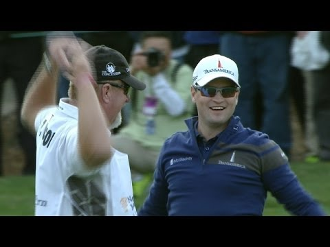 holes - In the final round of the 2013 Northwestern Mutual World Challenge, after an errant second shot Zach Johnson holes his fourth from the drop zone on the par-4...