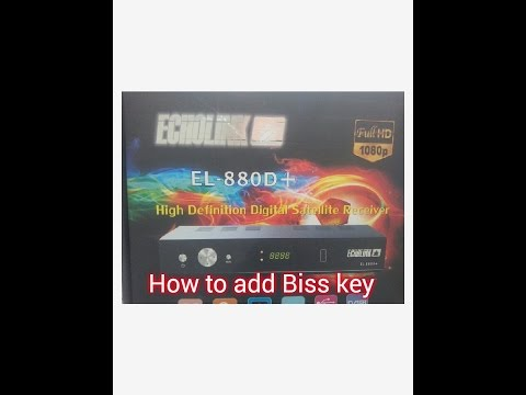 How to add Biss key  Echolink 880D+