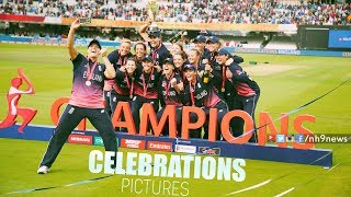England Women's Cricket Team Celebrations After Winning World Cup (Pictures )England beat India by nine runs to win Women's Cricket World Cup – as it happenedNH9 News, its leading Telugu news channel, a 24/7 LIVE news channel dedicated to live reports, exclusive interviews, breaking news, sports, weather, entertainment, business updates and current affairs.Subscribe us @ https://www.youtube.com/channel/UCM5E-rHB4rvdA_hm8chsU7QWatch Live @ http://www.youtube.com/c/NH9News/liveFollow Us On Facebook @ https://www.facebook.com/nh9news/Website : www.nh9news.com