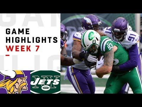 Vikings vs. Jets Week 7 Highlights | NFL 2018