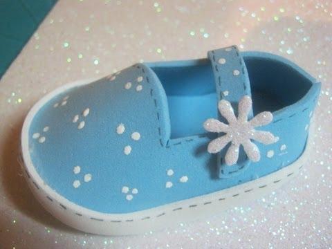 Zapatitos De Bebe En Foami Goma eva Baby Shower Modes Patrones Artfoamicol manualidades avi