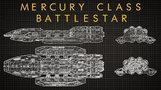 Battlestar Galactica: Mercury Class Battlestar - Ship Breakdown