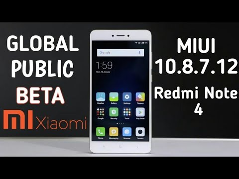 Install miui 10 Redmi Note 4 | Global public beta for Redmi note 4 | MIUI 10.8.7.12 | Download link