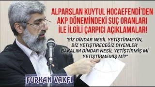 YENİ  AKP Dönemindeki Suç Oranları ile Alakalı Açıklam...