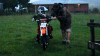 7. 2004 KTM 65SX - Finn's first ride