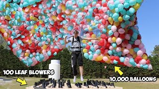Video I Flew Using Only Balloons AND Leaf Blowers MP3, 3GP, MP4, WEBM, AVI, FLV Juni 2019