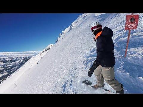 Steep California Mountain Snowboarding (Insane)