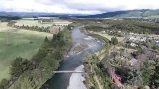 Turangi New Zealand  city photo : Tongariro River (2) - Turangi New Zealand (Drone = DJI Phantom 3 Advance)