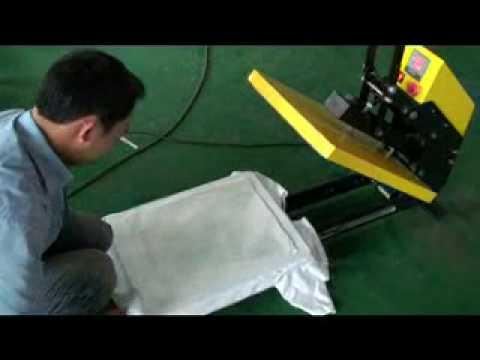 Prezentare video Presa transfer termic semiautomata
