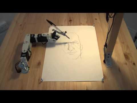Робот рисует человека прикол 2014 технологии будущего