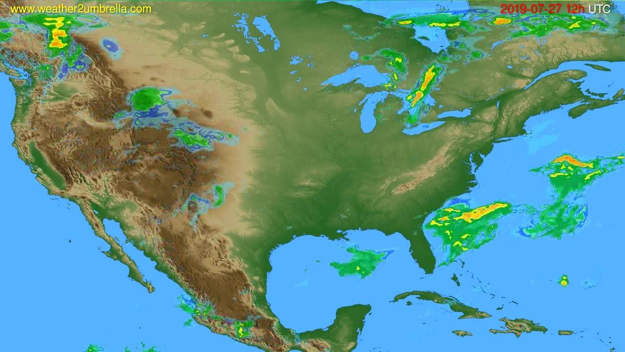 Radar forecast USA & Canada // modelrun: 00h UTC 2019-07-27